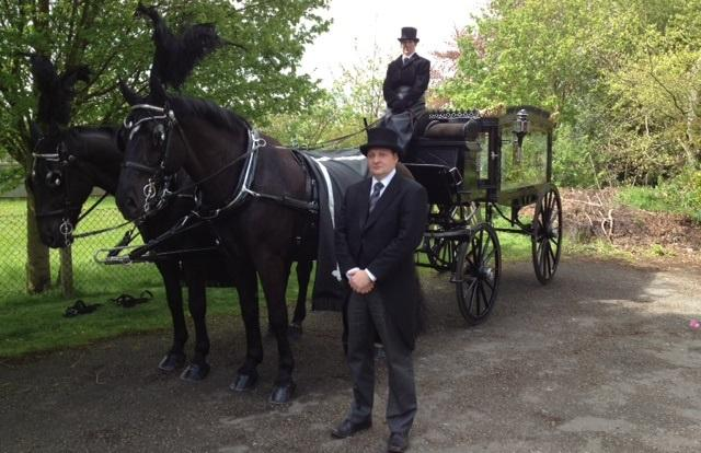 horse drawn hearse warrington