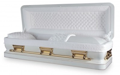 Pathenon White Casket