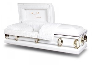 White Devotional Casket
