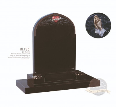 Shaped Chapter-Gothic Top Bronze Hands Memorial
