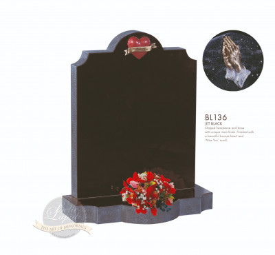 Shaped Chapter-Shaped Top Bronze Hands Memorial