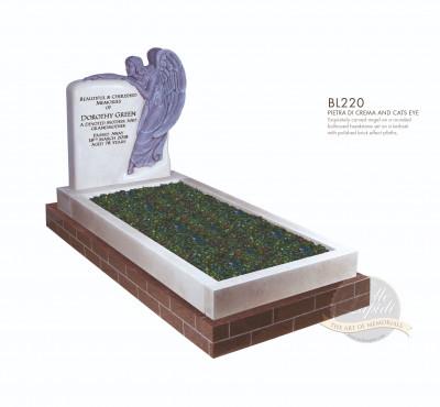 Kerb Set Chapter-Carved Angel Full Kerb Memorial