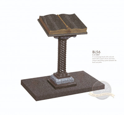 Book & Scroll Chapter-Curved Book Memorial