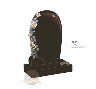 Floral Chapter-Curved Carved Rose Memorial