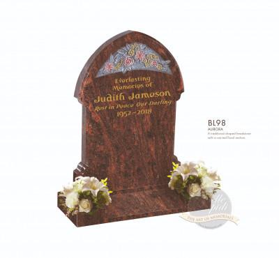 Floral Chapter-Carved Floral Scene Memorial