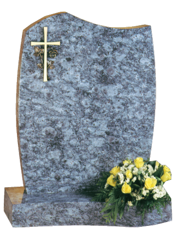 Granite Headstone - Shaped & curved headstone