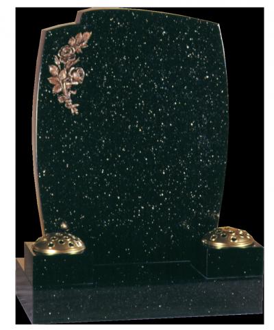 Granite Headstone - Popular design, with collar vases