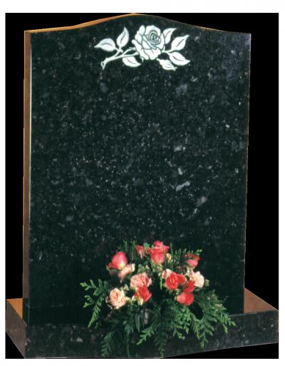 Granite Headstone - Ogee top headstone with ogee base