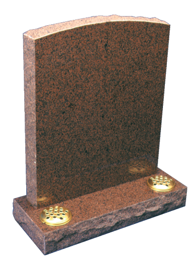 Granite Headstone - Oval top with polished face