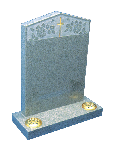 Granite Headstone - Peon shaped top