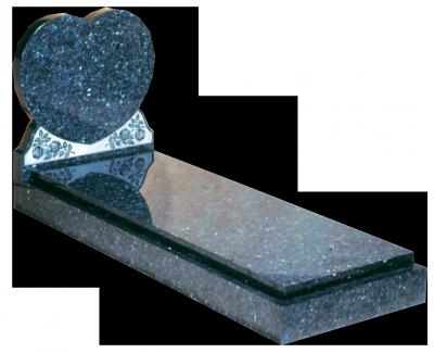 Granite Surround - Heart shaped full memorial