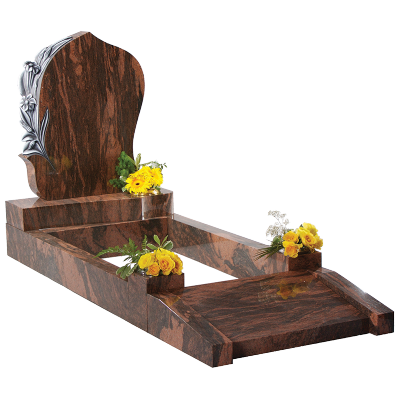 Granite Surround - Magnificent hand carved flowers