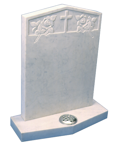 Marble Headstone - Peon shaped top