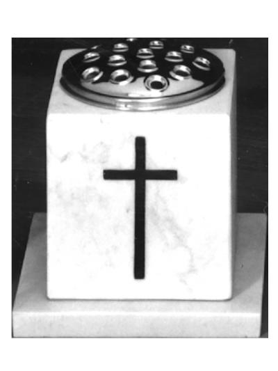 Marble vase with matching base