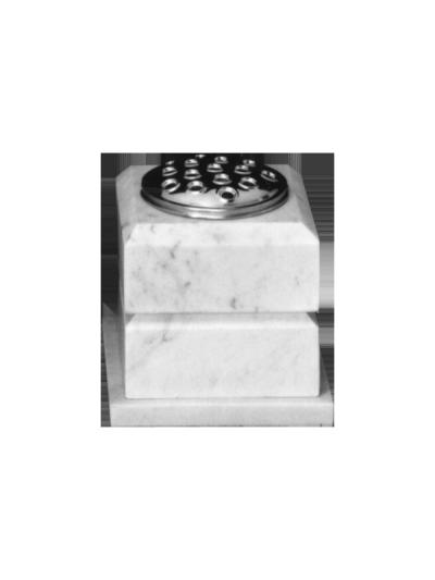 Shaped marble vase with matching base