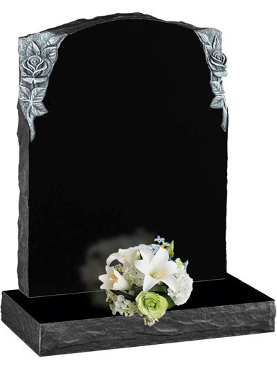 Rustic Carved Memorials - Black