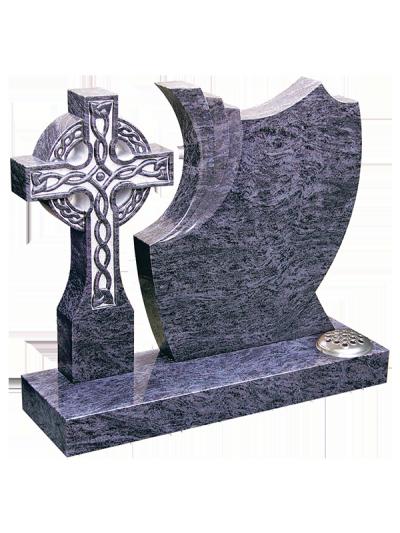 Granite Headstone - Magnificent celtic cross & shaped headstone