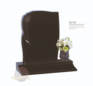 Shaped Chapter-Fluted Panel Memorial