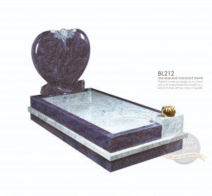 Kerb Set Chapter-Padded Heart Full Kerb Memorial