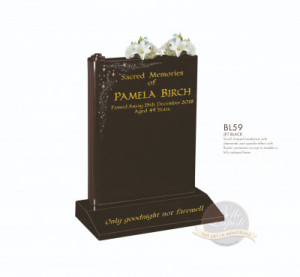 Book & Scroll Chapter-Scroll Shaped Headstone