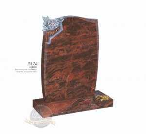 Book & Scroll Chapter-Rose Carved Mini Scroll Memorial