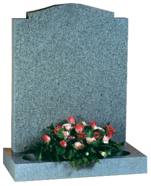 Granite Headstone - Ogee top with check corners