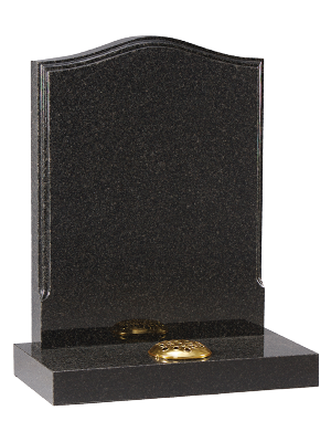 Granite Headstone - Ogee top with polished profile edge to face