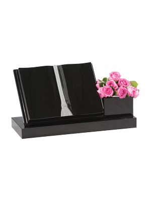 Granite open book - Gold/Silver flower container