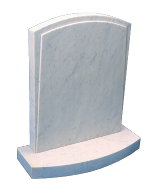 Marble Headstone - Oval top to headstone and base
