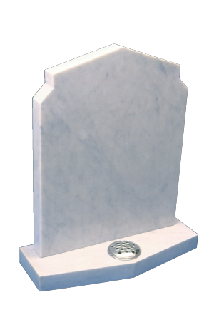 Marble Headstone - Peon top headstone and base