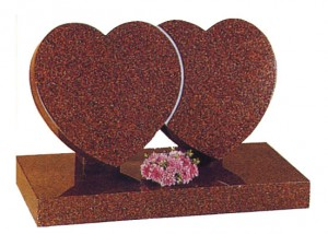 Cremation Style Memorial-Double Heart