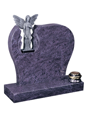 Granite Headstone - Stunning headstone with carved statue opening
