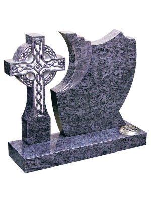 Granite Headstone - Magnificent celtic cross & shaped headstone