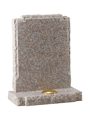Granite Rustic Headstone - Polished face with rustic edges