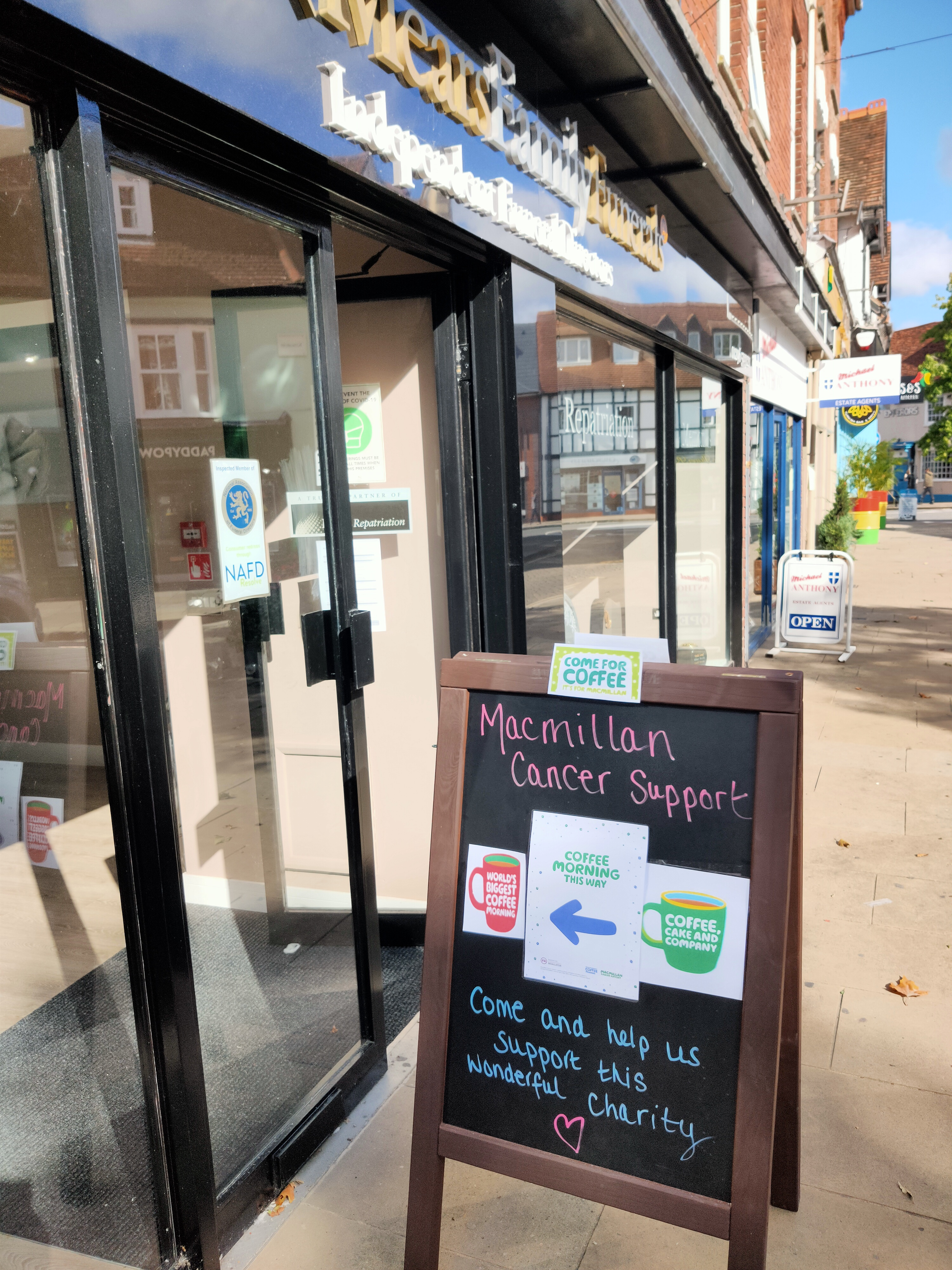Aylesbury branch hosted Coffee Morning for Macmillan Cancer Support